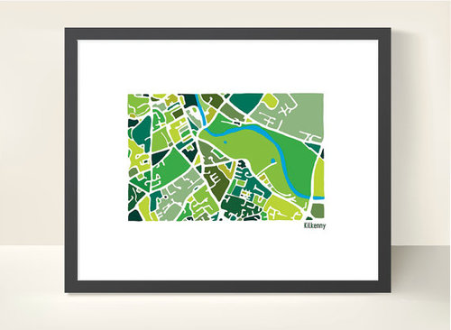 Kilkenny City Map – Illustration Print