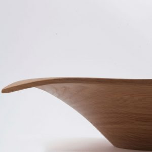 Hand crafted square wooden serving bowl from Ireland