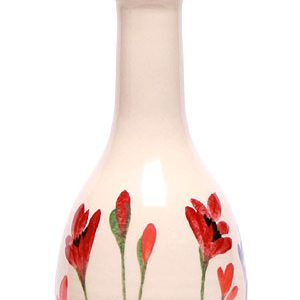 Poppy pattern ceramic hand painted drizzle bottle