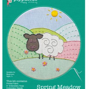 Spring Meadow Sheep Embroidery Kit from Pippablue