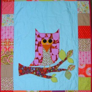 Patchwork quilt from Ireland with owl pattern