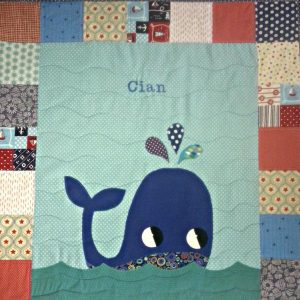 Patchwork whale quilt from Ireland