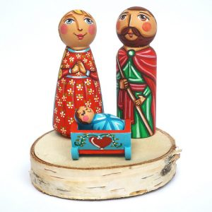 Holy Family Peg Dolls Christmas Decorations for the Home